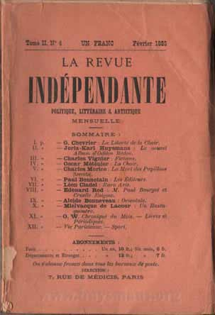 revue independante cover